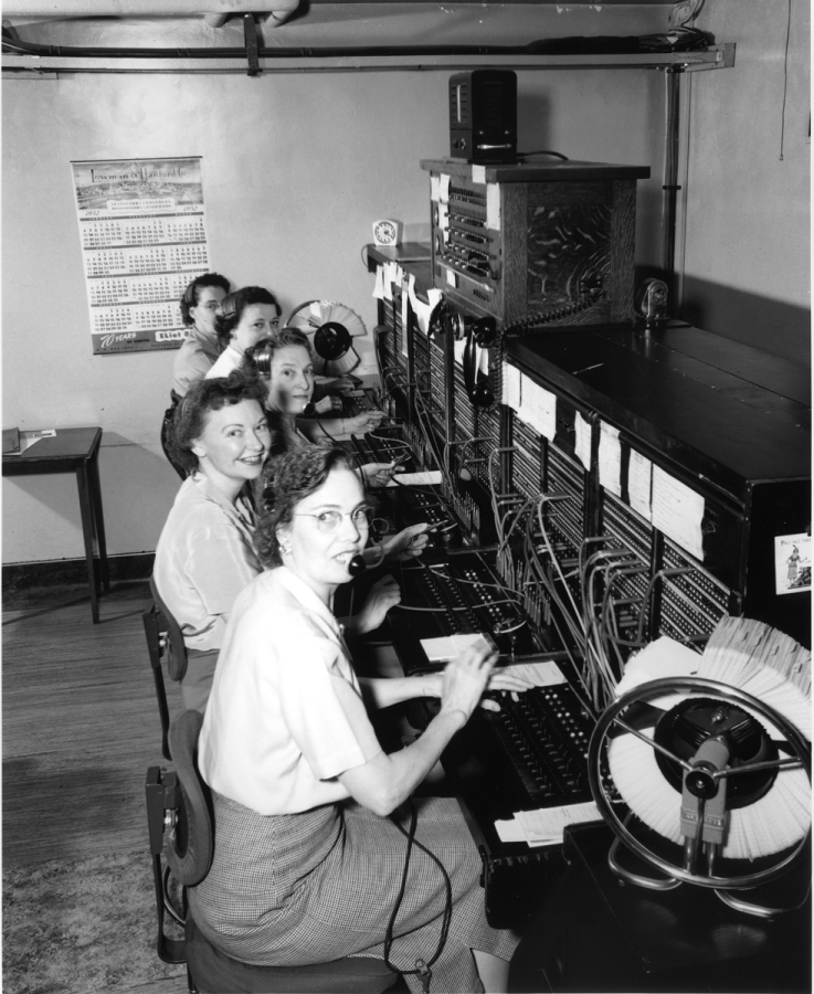 Old-school telephone operators